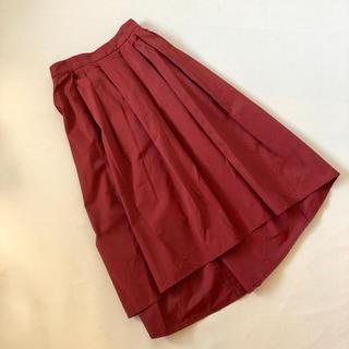 GUジーユー ワインカラーマキシ丈フレアースカート サイズS中古美品
