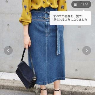 イエナ(IENA)の6o6様専用 美品 イエナ ハイウエストデニムスカート 36(ひざ丈スカート)