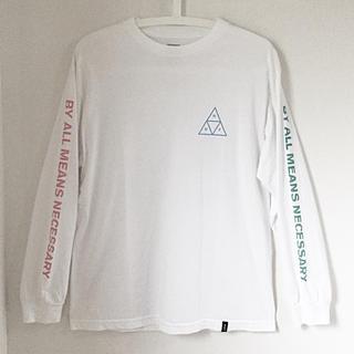 ハフ(HUF)のHUF ロンT M ホワイト 長袖 白 ハフ メンズ (Tシャツ/カットソー(七分/長袖))