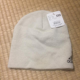 アディダス(adidas)のアディダス ニット帽 ベージュ(ニット帽/ビーニー)
