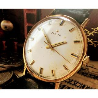 ゼニス(ZENITH)のゼニス★ZENITH/高級ブランド/ヴィンテージ/18K/金無垢/ゴールド(腕時計(アナログ))