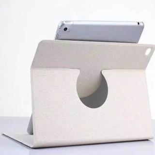 【ホワイト】シンプル iPad Air2 ケース オートスリープ スタンド(iPadケース)