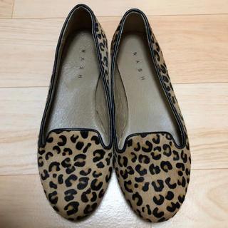 ギンザワシントン(銀座ワシントン)のWASH◇ワンシトン◇ハラコ フラットシューズ(ローファー/革靴)