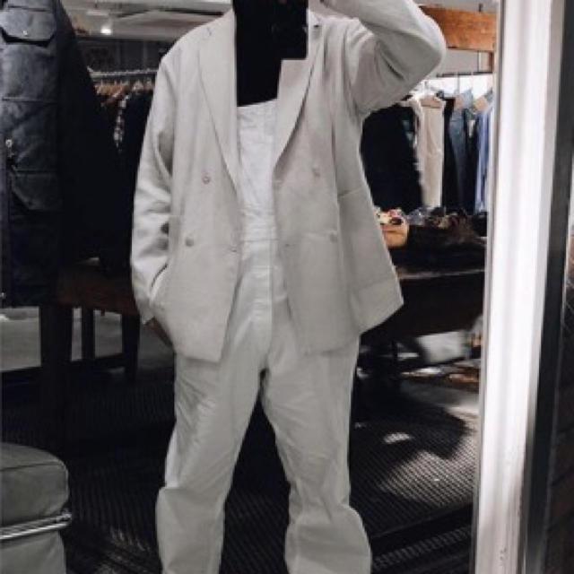 COMOLI(コモリ)のS様専用_221village L'ECHOPPE別注 リネンダブルジャケット メンズのジャケット/アウター(テーラードジャケット)の商品写真