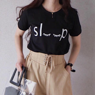 ザラ(ZARA)の新品 ロゴT/GYDA SLY エイミーイストワール リゼクシー ダーリッチ 系(Tシャツ(半袖/袖なし))
