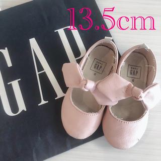 ベビーギャップ(babyGAP)のGapbaby リボン シューズ 靴 フラットシューズ バレエシューズ (フラットシューズ)