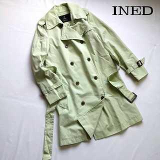 イネド(INED)のイネド★春色グリーン トレンチコート 9号 スプリングコート 定価3.2万(スプリングコート)