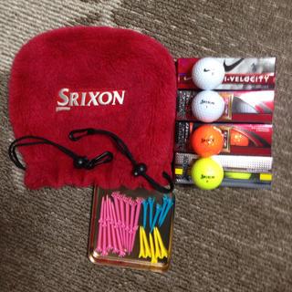 スリクソン(Srixon)のSRIXON アイアンカバー、ボール、ティーのセットです。(その他)