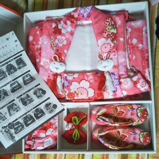 okax9さま専用★七五三 着物 被布 3歳 フルセット(和服/着物)