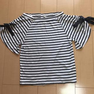 シマムラ(しまむら)の袖リボン ボーダーTシャツ(Tシャツ(半袖/袖なし))