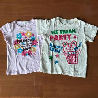 サンカンシオン(3can4on)のガールズ シャツセット(Tシャツ/カットソー)