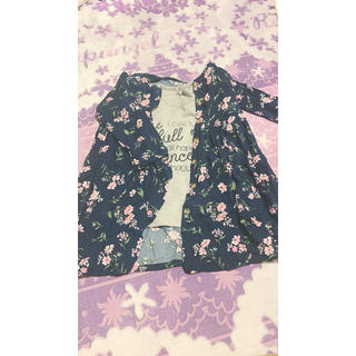 シマムラ(しまむら)のTシャツ ロングカーディガン セット(Tシャツ/カットソー)