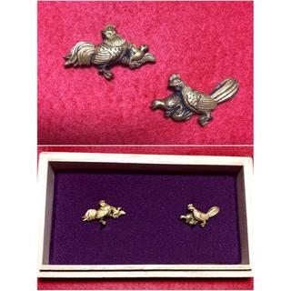 優美◆親子鶏の図◆金色絵◆美品◆箱付き◆江戸期◆刀装具(武具)