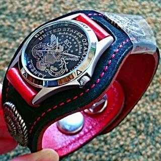 ケイシイズ(KC,s)の【未使用品】kc,s 腕時計 3コンチョ スタンディングロックイーグル ブラック(腕時計(アナログ))