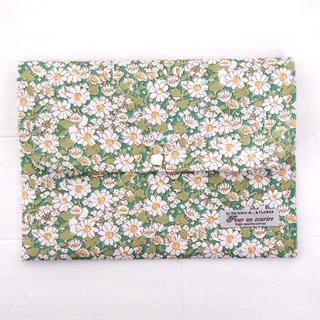 リバティ 母子手帳ケース アリスW/グリーン B6サイズ マルチケース(マタニティ)