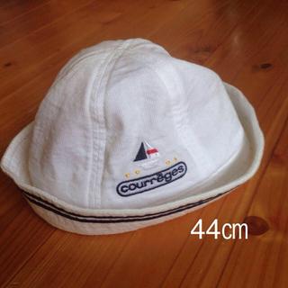 クレージュ(Courreges)の上品♪クレージュ ベビー帽子 44㎝(その他)
