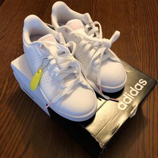 アディダス(adidas)のアディダス クラウドフォーム スニーカー 白 23cm(スニーカー)