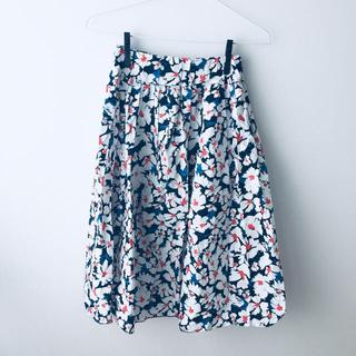 花柄 スカート ミモレ丈