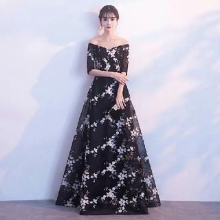 新作 ロングドレス、パーティー、お呼ばれドレス披露宴(ロングドレス)
