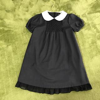 コムサイズム(COMME CA ISM)の美品☆コムサイズム 半袖ワンピース 110サイズ(ワンピース)