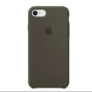 アップル(Apple)の純正Appleシリコーンケースーダークオリーブ(iPhoneケース)