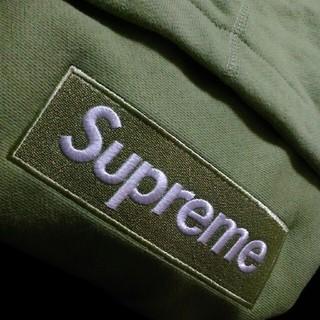 シュプリーム(Supreme)の16aw box logo セージ(パーカー)