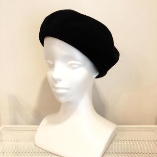 コットンサーモベレー帽☆ブラック(ハンチング/ベレー帽)