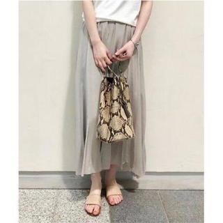 ドゥーズィエムクラス(DEUXIEME CLASSE)のウィムガゼット  シルクレーヨン製品染めスカート(ロングスカート)