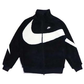 ナイキ(NIKE)のNIKE big swoosh boa jacket 黒 S ボアジャケット(ブルゾン)