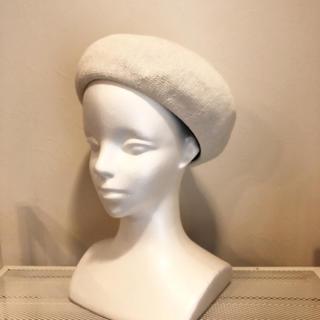 コットンサーモベレー帽☆アイボリー(ハンチング/ベレー帽)