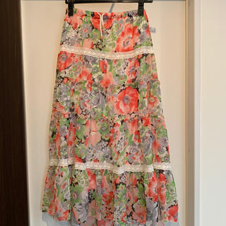 セシルマクビー(CECIL McBEE)のCECIL Mc BEE 花柄スカート(ロングスカート)