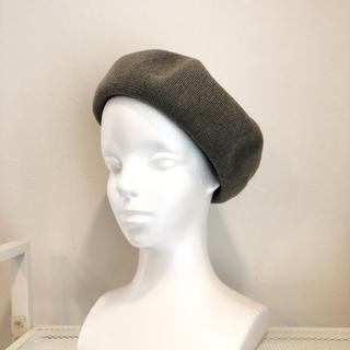 コットンサーモベレー帽☆グレー(ハンチング/ベレー帽)