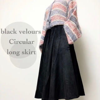 ▼ velours circular black skirt ▼(ロングスカート)