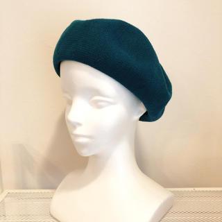 コットンサーモベレー帽☆ターコイズ(ハンチング/ベレー帽)