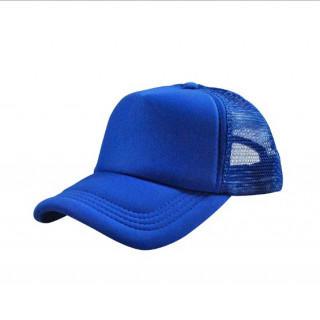 激安!無地メッシュキャップ 深さもあり形がいい 帽子 CAP ブルー(キャップ)