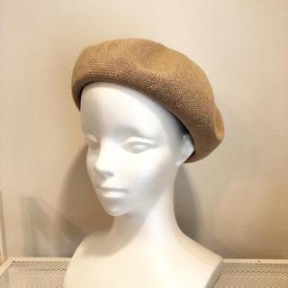 コットンサーモベレー帽☆ベージュ(ハンチング/ベレー帽)