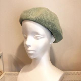 コットンサーモベレー帽☆ミント(ハンチング/ベレー帽)