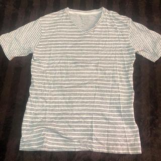 グローバルワーク(GLOBAL WORK)のTシャツ ボーダー (ホワイト&グレー)(Tシャツ(半袖/袖なし))
