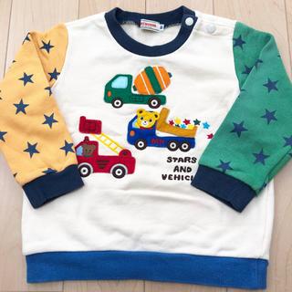 ミキハウス(mikihouse)のミキハウス トレーナー  プッチーくんと働く車(Tシャツ/カットソー)