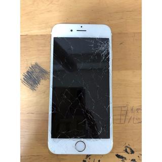 アップル(Apple)のiPhone6 64GBゴールド au ジャンク品本体のみ(スマートフォン本体)