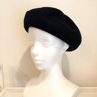 コットンサーモベレー帽☆ネイビー(ハンチング/ベレー帽)