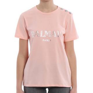 バルマン(BALMAIN)のバルマン Tシャツ 36 Sサイズ (ピンク)(Tシャツ(半袖/袖なし))