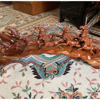 馬の木彫り(彫刻/オブジェ)