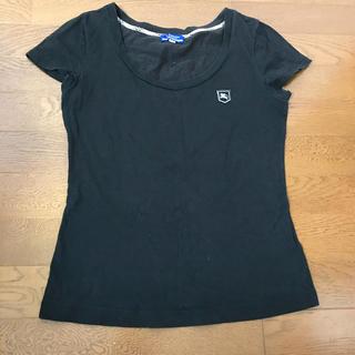 バーバリーブルーレーベル(BURBERRY BLUE LABEL)のBurberry バーバリー レディース Tシャツ トップス 黒 ブラック (Tシャツ(半袖/袖なし))
