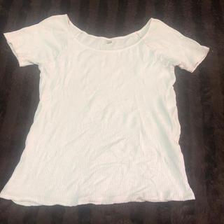 ユニクロ(UNIQLO)のTシャツ 白(Tシャツ(半袖/袖なし))