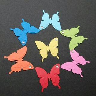 クラフトパンチ蝶ラメ付き70枚(各種パーツ)