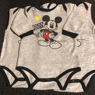 ディズニー(Disney)の🖤ミッキーマウス🖤ロンパース・肌着 3枚セット(肌着/下着)