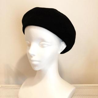 MIXコットンサーモベレー帽☆ブラック(ハンチング/ベレー帽)