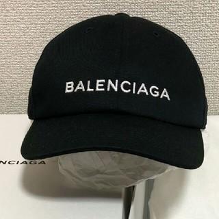 BALENCIAGA 帽子 バレンシアガ キャップ 黒 ブラック フリーサイズ(キャップ)