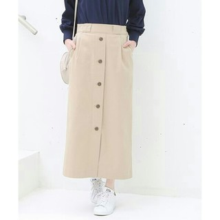 ディッキーズボタンダウンストレッチタイトスカート(ロングスカート)
